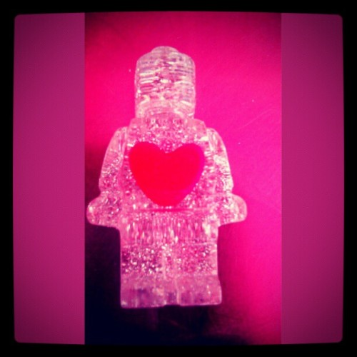 LEGO LOVE HEART MAN - Street Art found on Melrose Ave. Brilliant artist unknown.  (Taken with instagram)