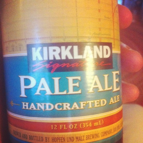 I like to wear my Kirkland sunglasses when drinking my Kirkland beer.  (Taken with instagram)