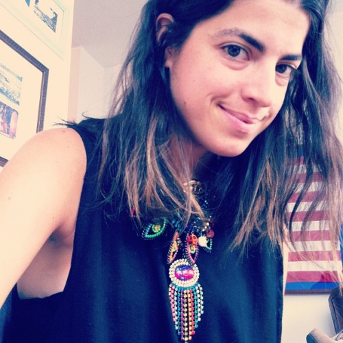 Most of the time she's an animal, but sometimes… she's nice @manrepeller @dannijo #mrdannijo #eyespies (Taken with instagram)