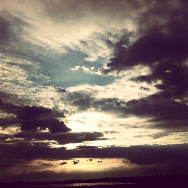 If dying is your way out, then count me in. I'm coming. #sky #clouds #sunlight #sun #water #beams #rage #energy #truth #drugs #phil4all #photography #display #iphone #iphone4 #picoftheday #iphonesia #strata #nj #opening  (Taken with instagram)