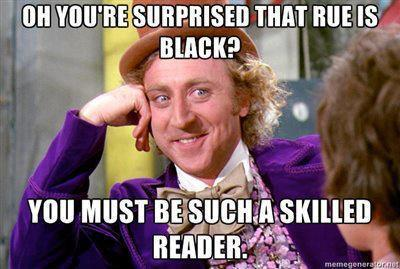 hungergamestweets:  I've been waiting forever for Willy Wonka to weigh in on this…