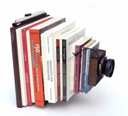 Here's the book on making a camera…or a camera made from a book set…or both? From American Libraries Direct (Image courtesy of Taiyo Onorato and Nico Krebs)