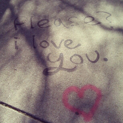 Sidewalk romance (Taken with instagram)