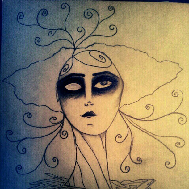 I draw. Debutante zombie. (Taken with instagram)