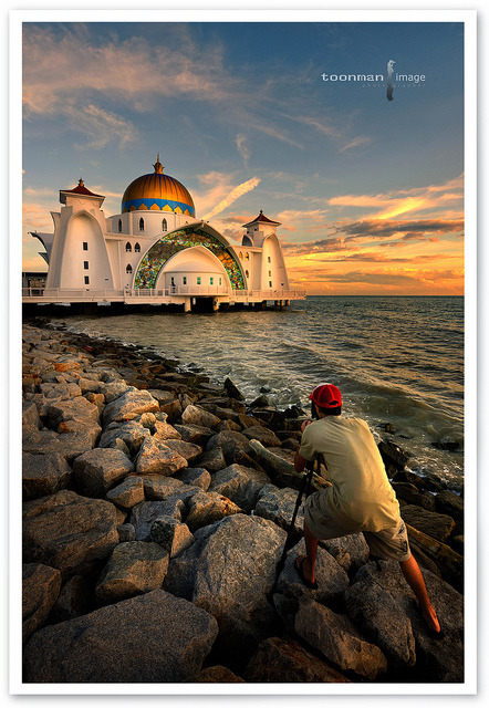 Malaysia - The Straits Mosque, Malacca by TOONMAN_blchin on Flickr.
