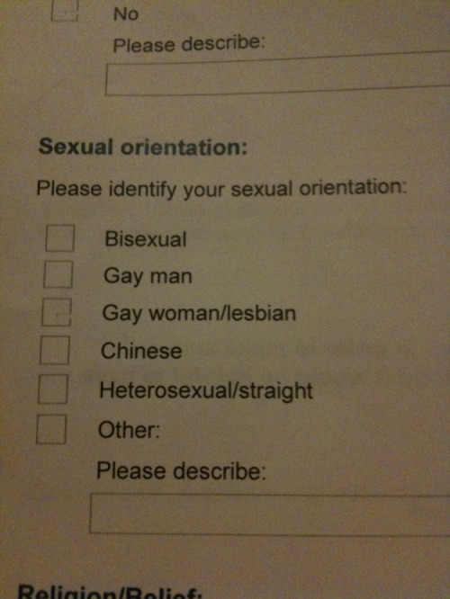 "Attention: ""Chinese"" is now a valid sexual orientation."