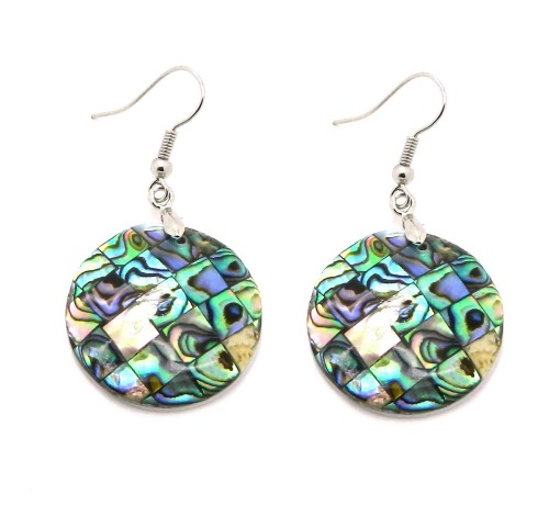rainbow shell fashion earrings dangle style.