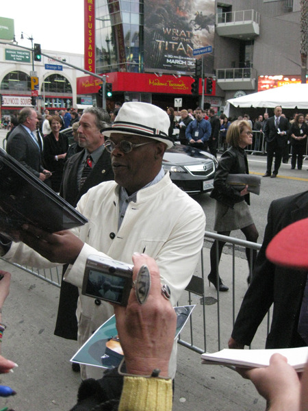 Samuel L. Jackson at The Avengers Premier