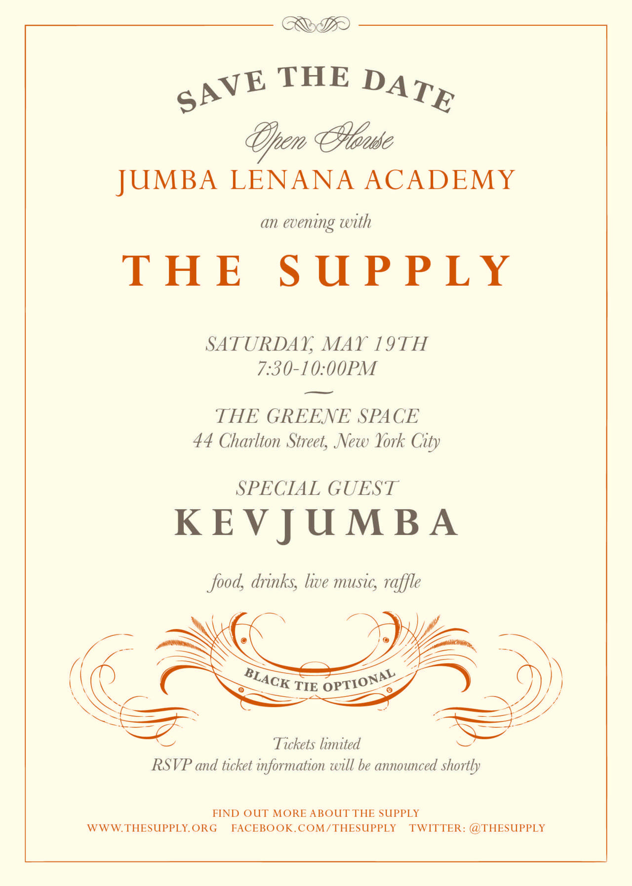 Our good friends at The Supply is holding a charity gala in NYC for the completion of Jumba Lenana Academy and in hope to raise $50,000 for a secondary school in Kenya! Come out and celebrate with live music, open bar, and special guest Kevjumba. You don't want to miss out on this great event for a good cause. For more information and tickets check out the event page below :) http://www.eventbrite.com/event/3307590091/efblike