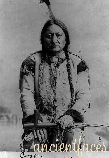 Chief Sitting Bull Sitting Bull was a Lakota holy man and chief who was killed by Indian agency police. He was a valiant warrior and leader, but was also a performer in Buffalo Bill Cody's Wild West Show, reportedly earning $50 a week. Taken in 1884. [ Chief Sitting Bull - Lakota Holy Man ]