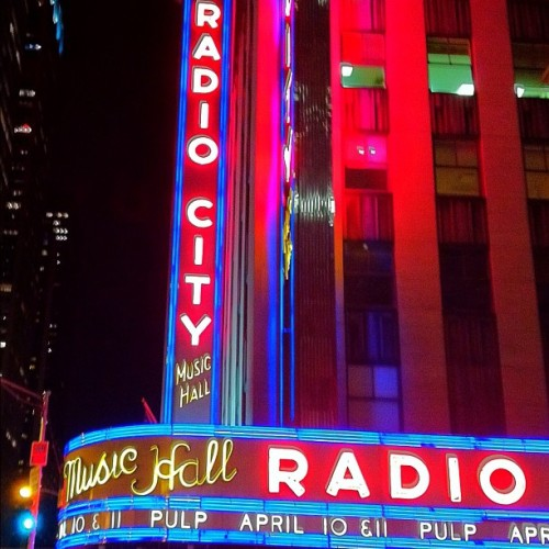 Pulp!!!!! #pulp #radiocity #nyc (Taken with instagram)