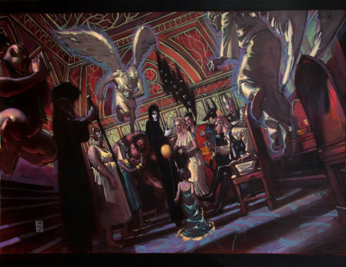 "960018visual:  ""Sandman"", by John Watkiss. A visual development painting for the proposed adaptation of the graphic novel Sandman, by Neil Gaiman, to the movies. For better or for worse, the project never saw the light of day."