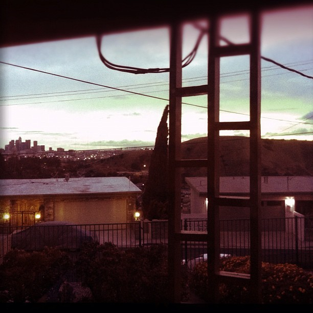 Clear day up on the hill tonight #dtla #elsereno (Taken with instagram)