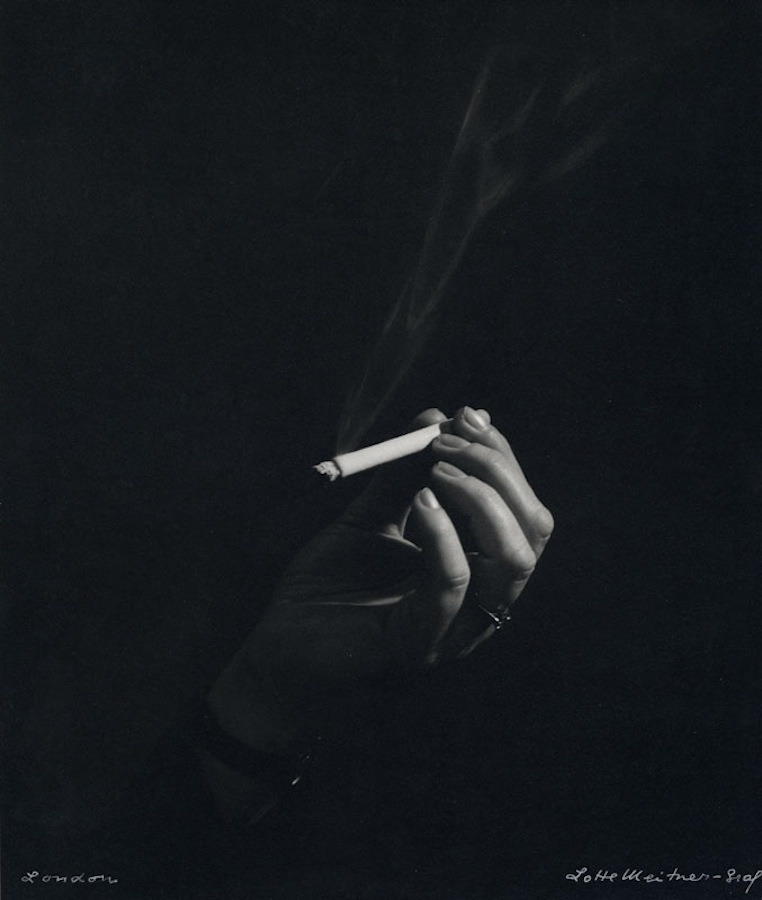 Lotte Meitner-Graf ~ Woman's hand with cigarette, ca. 1960