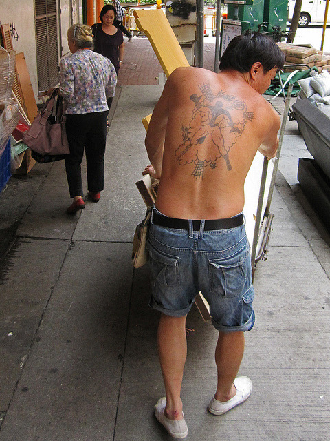 Spiderback on Flickr.Via Flickr: This is the best bad tattoo I have seen all day.