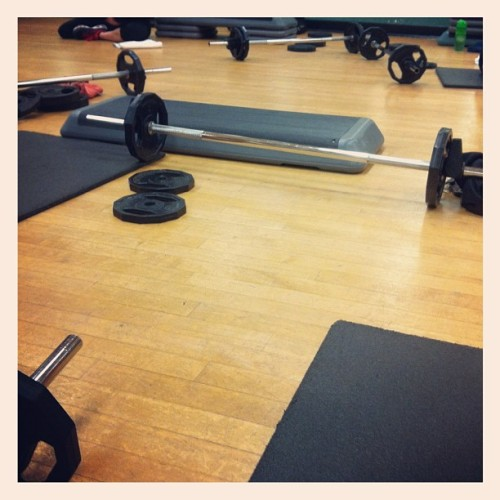 Body pump sesh w/ Lan & @sirene27 💪😁 #health #fitness (Taken with instagram)