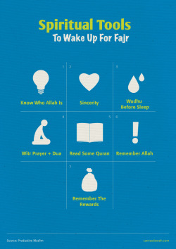 productivemuslim:  Spiritual Tools To Wake Up For Fajr.