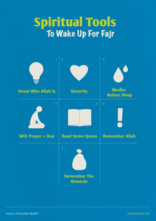 Spiritual tools to help you wake up for fajr.
