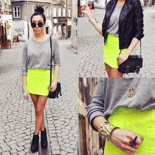 Neon skirt (by Pam S)