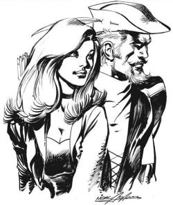 Green Arrow and Black Canary by Neal Adams. (Neal Adams, the man, the legend, is now on Deviantart! And is posting awesome previews of Batman #11 and #12! Click here to see. [How do people not know this yet? The man is legendary, go, quick. I'll upload the cover art for Batman #11 as well.] )