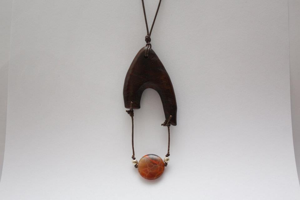 necklace, jasper, leather strings, vavona burl.order -> www.facebook.com/pavianplugsorganics