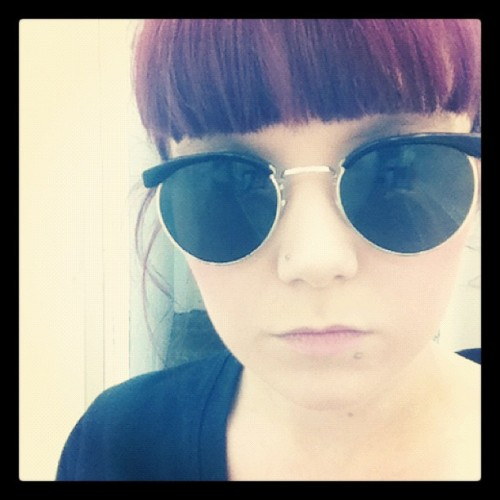 I'm developing an obsession with vintage sunglasses.  (Taken with instagram)