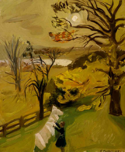 mrkiki:  Fairfield PorterAutumn Morning. 1949Oil on masonite30 x 25 inches VIA