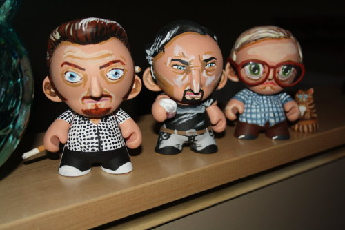 Trailer Park Boys Mini Munnys Bubbles, Ricky, Julian, and a kitty Available for $200(USD) @Etsy Created by Erika Pitts