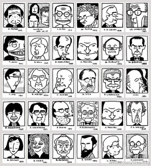 arquicomics:  architects in cartoons (autor japonés?) via eiza / Pinterest