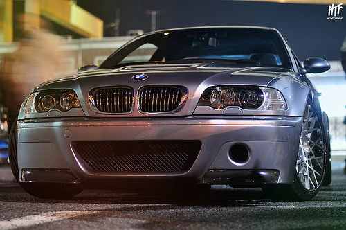 automotivated:  E46 CSL on Rotiform BLQ (by hightopfade)