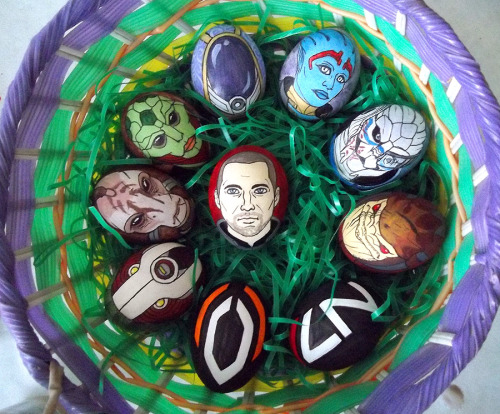 fuckyeah-masseffect:  Mass Effect Eggs by ~Red-Flare