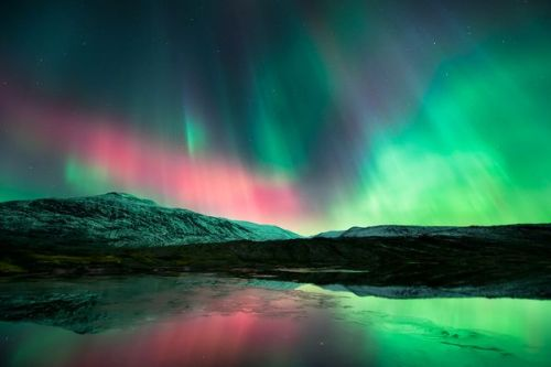 expose-the-light:  Artistic Aurora Photograph by Tommy Eliassen, My Shot Northern lights paint the sky in a picture taken from Norway in 2011 and recently submitted to National Geographic's My Shot. The late October sky show had been triggered by an intense geomagnetic storm that spawned auroras across the Northern Hemisphere—including blood-red auroras seen in the U.S. South (pictures).