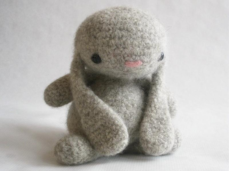 Felted Wool Crocheted Bunny Pure Preciousness. Found via MillieFern's Etsy Store.
