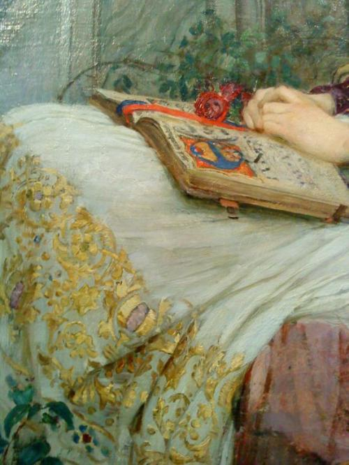 poboh: 1895 John William Waterhouse (English Pre-Raphaelite, 1849-1917) ~ St Cecilia [detail]