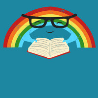 Reading Rainbow by Jay Fleck(via Society6)