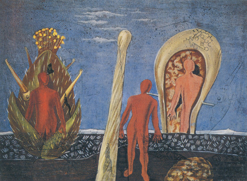 archives-dada:  Max ERNST. Dada Gauguin. 1920, gouache et encre sur papier imprimé, 30,3 X 40, Chicago, The Art Institute of Chicago
