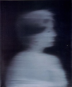 Gerhald Richter - Women's Head in Profile, 1966 * http://www.gerhard-richter.com/ [official]
