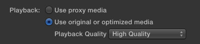 FCP X: Native vs. Optimize vs. Proxy Media