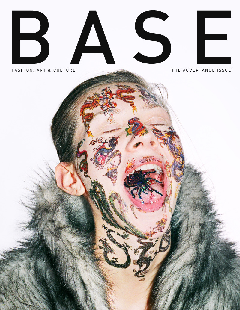 neuewave:  Base Magazine | Issue 03 | May 2012 The first cover of The Acceptance Issue, shot by Tania Shcheglova and Roman Noven (AKA Synchrodogs). Base Online | Base Facebook | Base Twitter