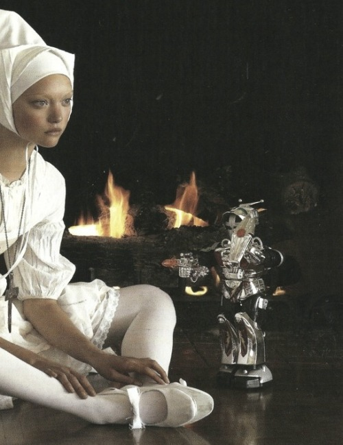 Gemma Ward in Organized Robots by Steven Meisel for Vogue Italia March 2006