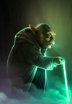 hayleyquinnn:  With this one, the Force is strong. Old Yoda, by Heri Irawan.