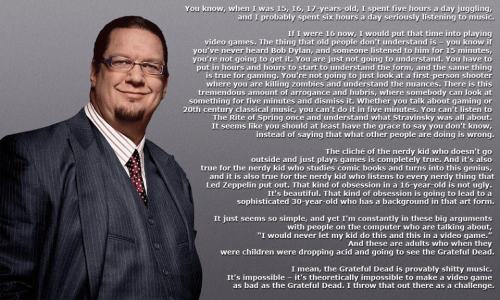 Penn Jillette on videogames & nerds!