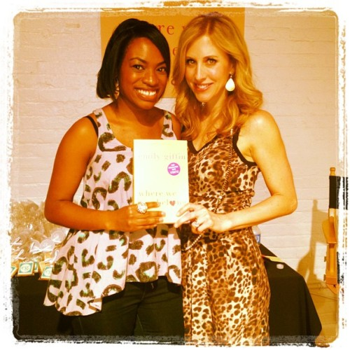 Met @EmilyGiffin, one of my favorite authors, at @SpaWeek's media party last night. I have a date with her new book, Where We Belong, during my lunch break. (Taken with instagram)