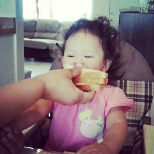 Big bites for small girls. L ol (Taken with instagram)