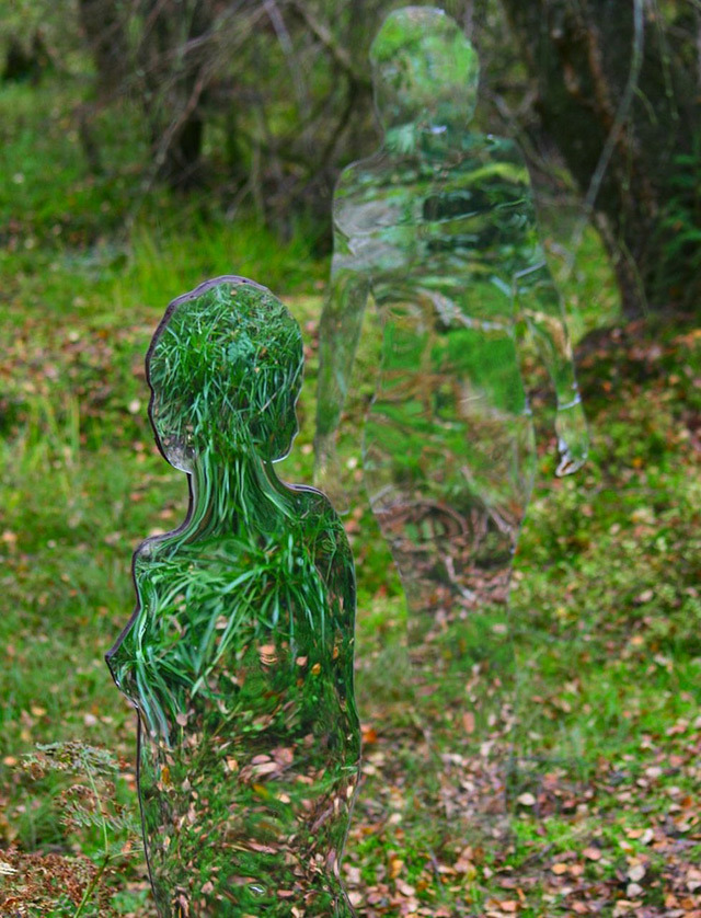 Eerie Mirrored Sculptures by Rob Mulholland