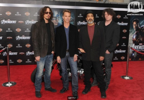 grungebook:  Soundgarden at The Avengers premiere in Hollywood last night. (More red-carpet photos here.)  Ben, my body is ready.
