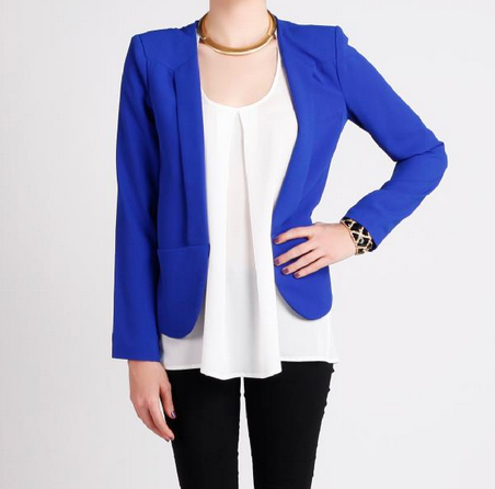 cobalt blue blazer amazing and yet daring  only for the edgy ones doll