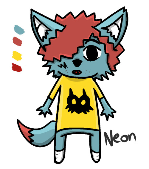 Neon by =Purple-Kitsune  Made a character for myself now. :)