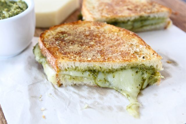 gastrogirl:  parmesan crusted pesto grilled cheese sandwich.