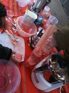Our healthy juice workshop at Dalston Eastern Curve garden is blending well! tomorrow we celebrate one year of our lovely clay oven, come in to make pizza!